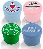 CapaBunga 4-Pack Wine Sealer, Wine Mom