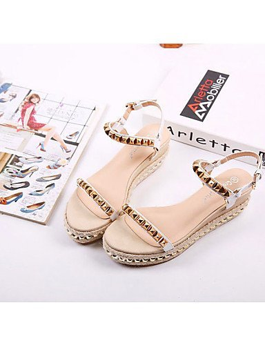 ShangYi Kitten White Black Shoes Women's Black Open Casual Toe Sandals Heel Wedges prp4nqwfW
