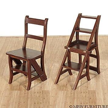Amazoncom Benjamin Solid Mahogany Convertible Ladder Chair