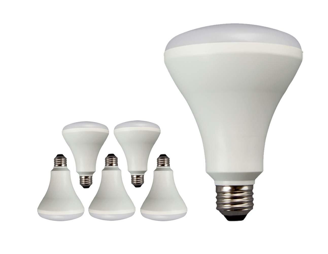 TCP 65 Watt Equivalent LED BR30 Flood Light Bulbs, ENERGY STAR Certified, Dimmable, Daylight (6 Pack)