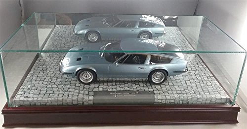 The Glass, Wood, and Mirrored Display Case for 1:18 Scale Resin Models with a ()