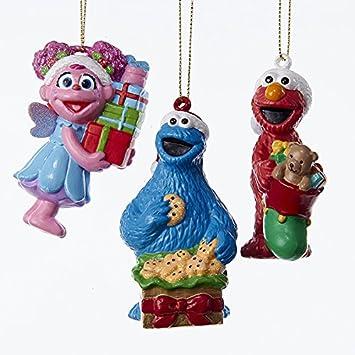 Kurt Adler 3 Assorted Barrio Sésamo múltiplos de Elmo, Monstruo de las galletas y Abby Blow molde decoraciones de árbol de Navidad: Amazon.es: Hogar