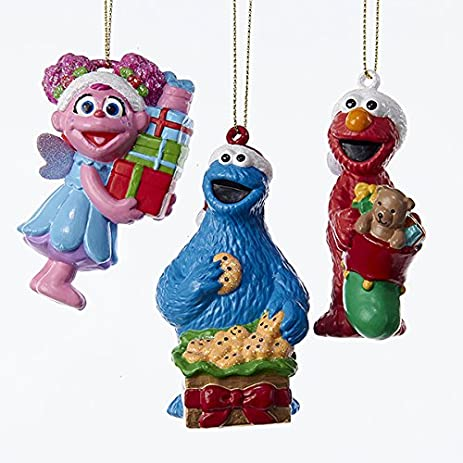 Kurt Adler 3 Assorted Sesame Street Multiples of Elmo, Cookie Monster And  Abby Blow Mold - Amazon.com: Kurt Adler 3 Assorted Sesame Street Multiples Of Elmo
