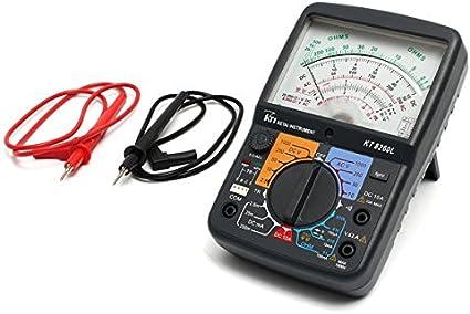 Multimetro corrente DC misura corrente alternata HUKITECH resistenza test di continuit/à test di transistor test diodi capacit/à digitale tensione