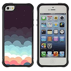 fashion Case Clouds Dream Stars Teal Pink Sky Night Apple Iphone 5c