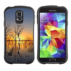 "Hypernova Slim Fit Dual Barniz Protector Caso Case Funda Para Samsung Galaxy S5 [Sunset Beautiful Nature 51""]"