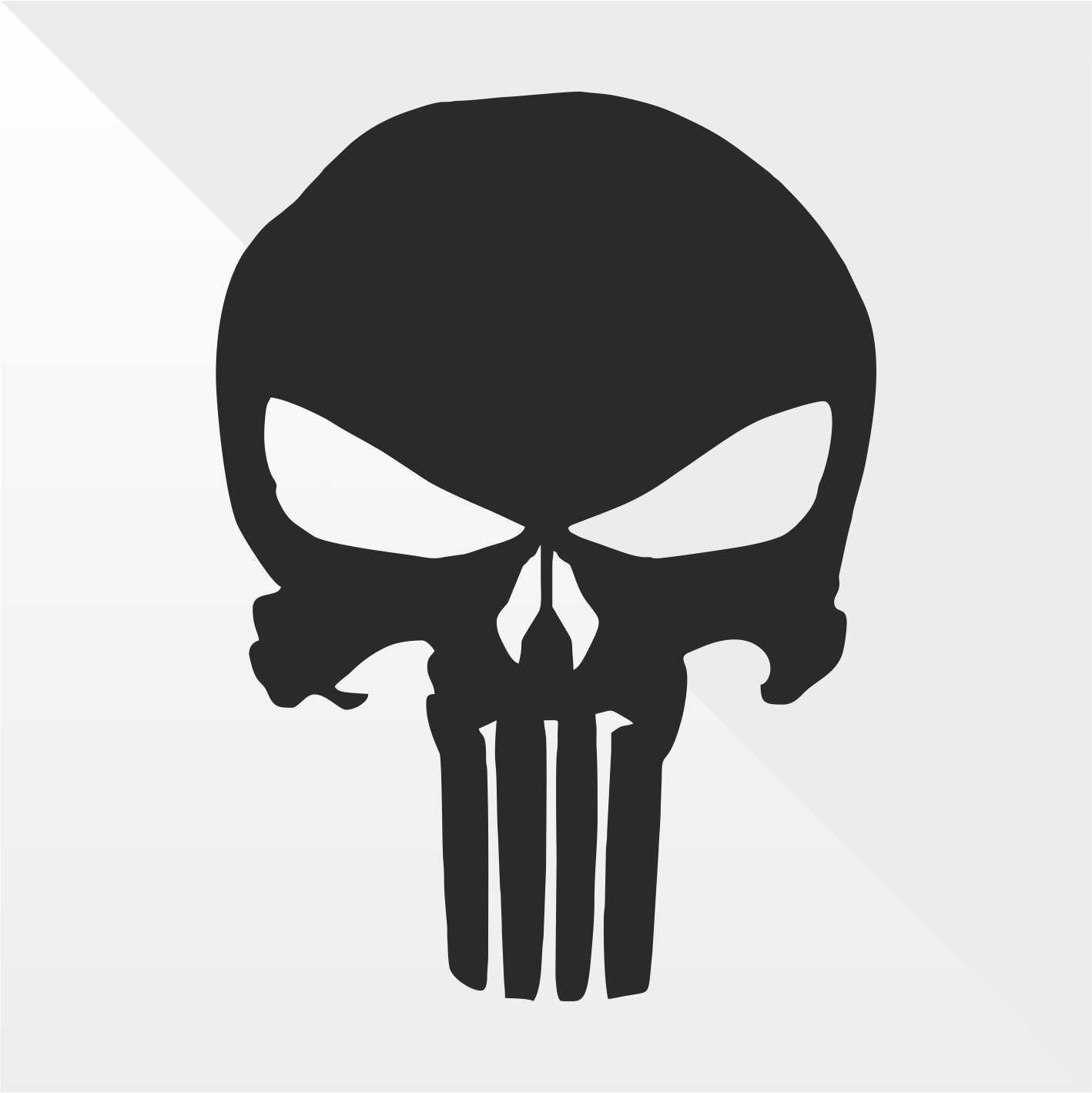 Sticker Prespaziato Pre-Spaced Punisher Teschio Skull Crâ ne Crá neo Schä del - Decal Auto Moto Casco Wall Camper Bike Adesivo Adhesive Autocollant Pegatina Aufkleber - cm 10 erreinge