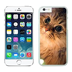 Hot Sell Design Lovely Christmas Cat White Phone Case For Iphone 6 4.7 Inch