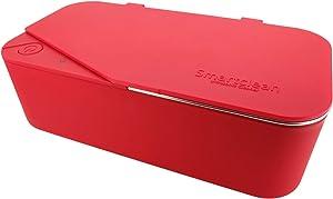 Smartclean Vison.5 Household Ultrasonic Cleaner Slim Compact Eyewear Cleaning (Red)