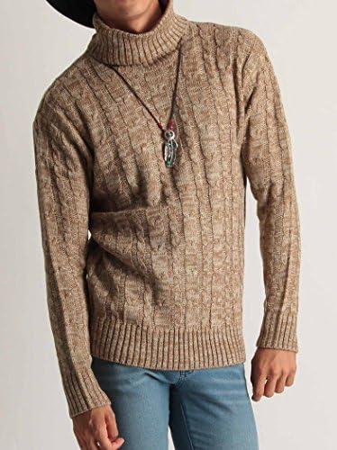 タートルネック ケーブル編み ニット メンズ セーター カラーニット ニットソー 長袖 カジュアル ストリート アメカジ 防寒 秋冬