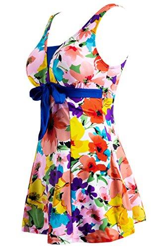 Estate Fiori un Wantdo Pezzo Spiaggia Costume da Bagno Donna Arancio Hqx6ztwX