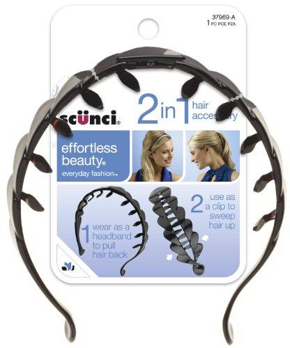 Scunci Effortless Beauty Banana Comb/headband, Color may var
