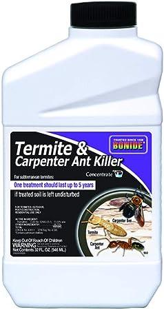 Amazon Com Bonide Bnd568 Termite And Carpenter Ant Killer Insecticide Pesticide Concentrate 32 Oz Home Pest Repellents Garden Outdoor