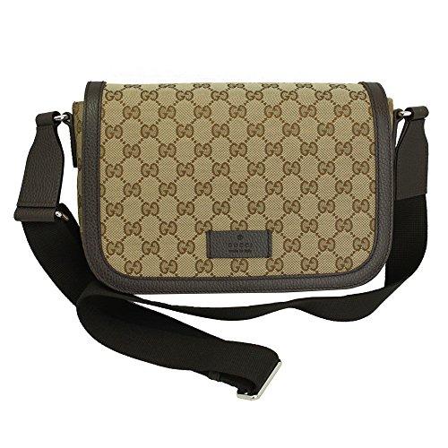 (Gucci GG Canvas Cross Body Messenger Bag 449172)