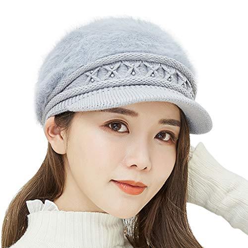 Chainsee Women Winter Warm Knit Hat Wool Snow Ski Beanie Cap