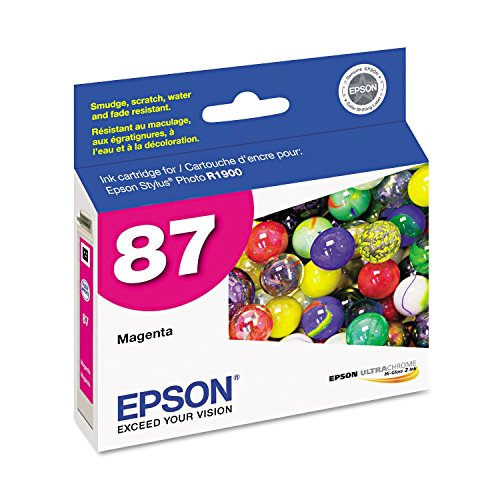 Epson - T087320 UltraChrome Hi-Gloss 2 Ink - Magenta (T087320 Magenta Ink)