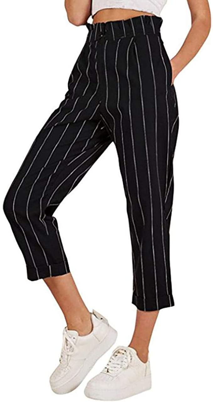 beautyjourney Pantaloni Donna Eleganti Vita Alta Pantalone