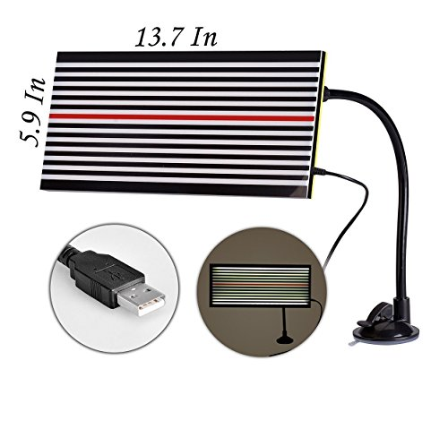 Super PDR Paintless Dent Repair Tool LED Double Strip Line Board Dent Reflective Panel with Ajustment Holder ()