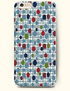 Blue Green Red Dots Linked Checks-- OOFIT Hard Back Case for Apple iPhone 6 (4.7 inch)