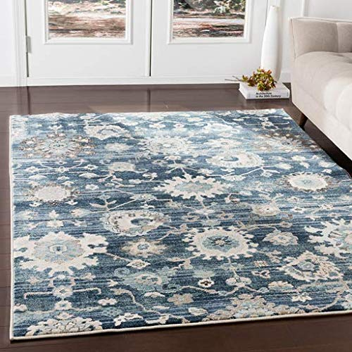 - Maquoketa Updated Traditional Farmhouse 3' x 5' Rectangle Updated Traditional 100% Polypropylene Medium Gray/Teal/Denim/Navy/Ivory/Camel/Black Area Rug