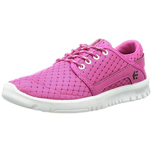 Etnies Scout Lace-Up Sneaker (Toddler/Little Kid/Big Kid),Pink/White,7 M US Big Kid