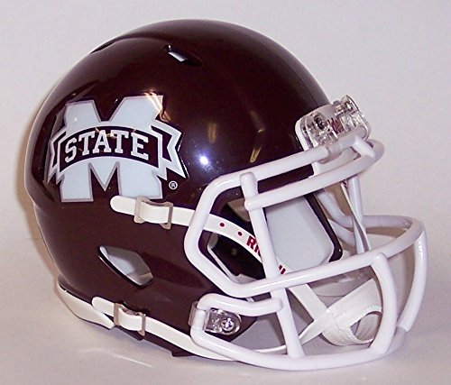 Mississippi State Bulldogs - 8051090 - Riddell Speed Mini Football Helmet - New in Riddell Box