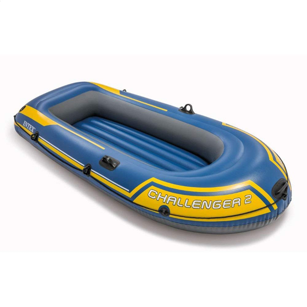 Durability Inflatable Kayaks Durable 2 Person Inflatable Boat Thickened Double Fishing Boat Assault Boat Dinghy Drift Boat/Blue (Color : Blue, Size : 236×114×41CM) by BoeWan