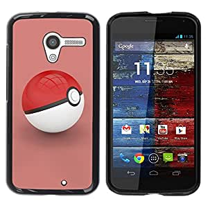 Be Good Phone Accessory // Dura Cáscara cubierta Protectora Caso Carcasa Funda de Protección para Motorola Moto X 1 1st GEN I XT1058 XT1053 XT1052 XT1056 XT1060 XT1055 // Poke Red