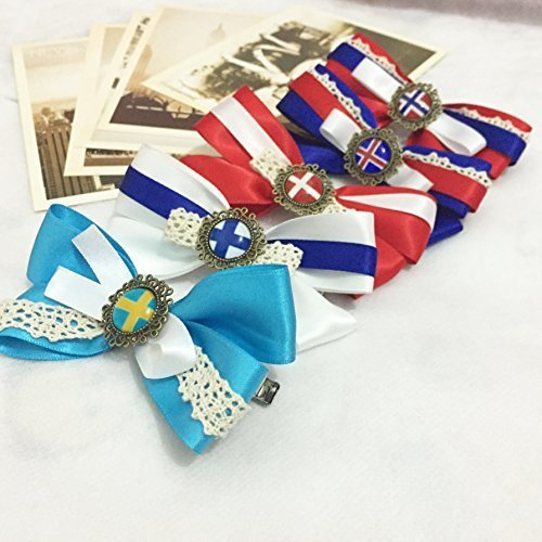 Dreamcosplay APH Axis Powers Hetalia Nordic Logo 5PCS Hairpin Barrette by Dreamcosplay
