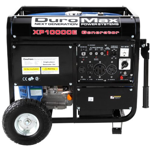 duromax-xp10000e-ca-10000-watt-16-hp-ohv-4-cycle-gas-powered-portable-generator-with-wheel-kit-and-e