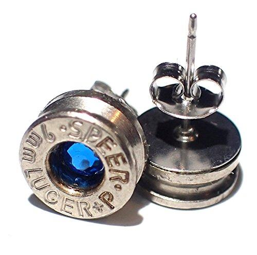 9mm bullet stud earrings - 8