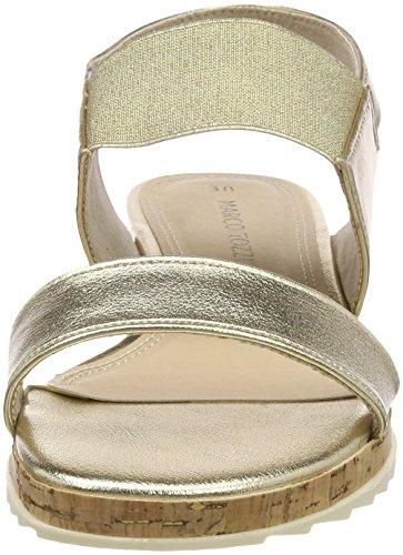 Cinturino alla 28633 Donna Sandali Platinum Caviglia Marco Tozzi con Argento IxaZqXfH