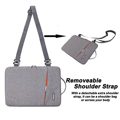 467f808e831f FOPATI 14  15 Inch Laptop Sleeve Vertical Slipcase Shoulder Bag Messenger  Case for Apple Macbook Air 15.4