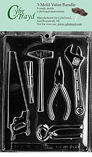 Assortment Mold (CybrTrayd D066-3BUNDLE Tools Assortment Chocolate Candy Mold with Exclusive Copyrighted Chocolate Molding Instructions)