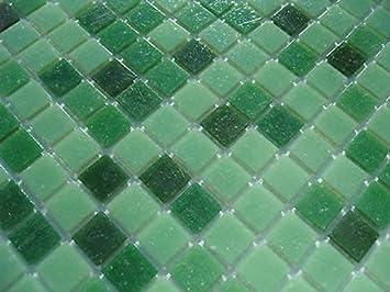 Fliesentopshop Glas Mosaik Fliesen Pool Dusche Bad Mosaik Grun