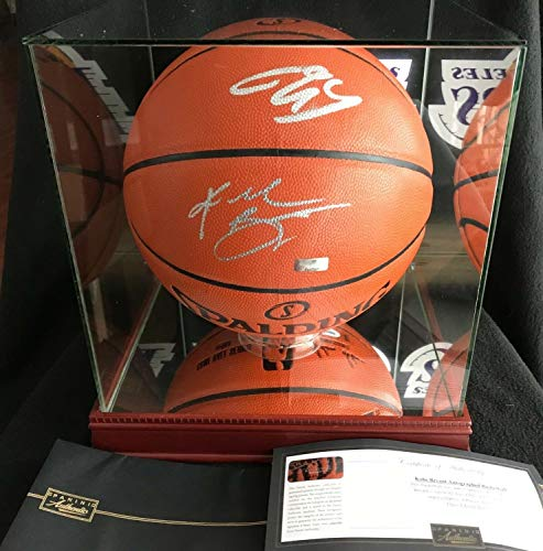 18e3ce3ced1 Kobe Bryant Shaquille O Neal Autographed Signed Memorabilia Nba Ball  W Lakers Case Shaq Panini PSA DNA