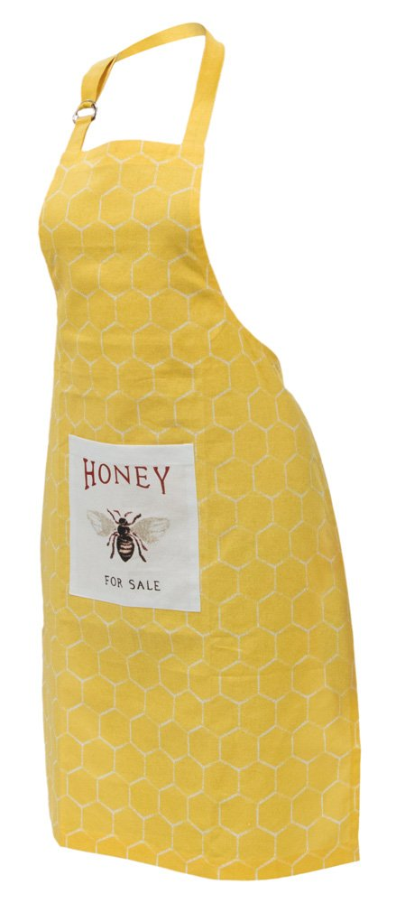 Celebrate the Home URB18531 Kitchen Chef Apron with Pocket, Honeybee