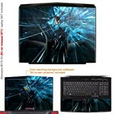 Decalrus Matte Protective Decal Skin Sticker for Alienware M17x R3 with 17.3in Screen (IMPORTANT: to get correct skin for your M17X Must view IDENTIFY image) case cover Matte-M17XR3-112