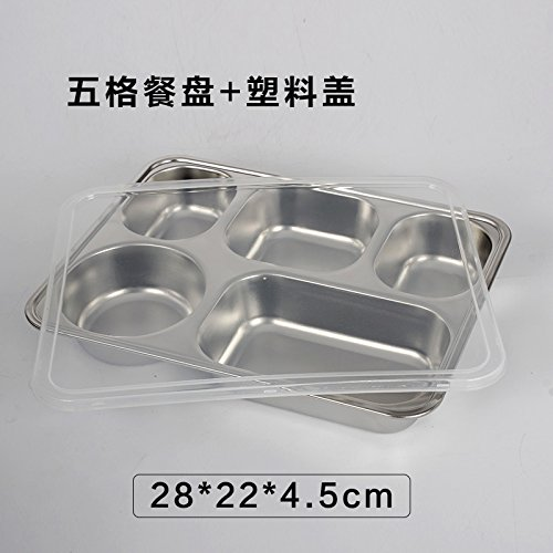 Amazon.com: Luckyfree Lunch Boxes Stainless Steel Snack Diskless Student Picnic Bento Box Thickened Adult Deepening Five Bars + Metal Cover: Kitchen & ...