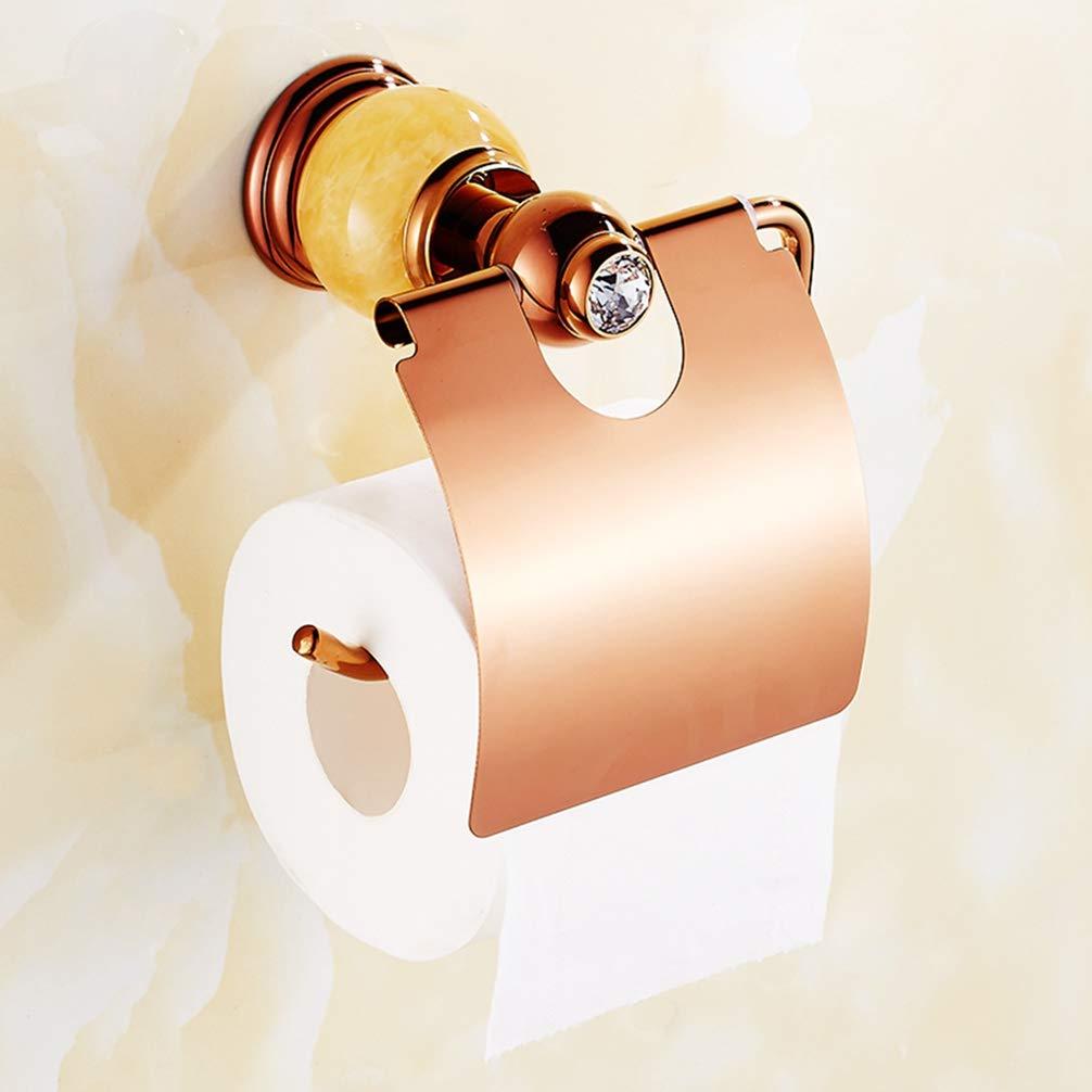 D LUDSUY Continental pink gold Tissue Box Toilet Paper Carton Box Bathroom Sanitary Toilet Tissue Holder Waterproof Roll Toilet Paper Holder, F