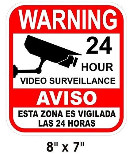 WATERPROOF SURVEILLANCE HOME SECURITY VIDEO CAMERAS WARNING YARD FENCE SIGNS