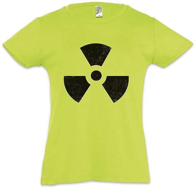 Radioactive Vintage Symbol Camiseta para Niñas Chicas niños T-Shirt Big Radiation Bang Strahlung Logo Theory Größen S - 3XL: Amazon.es: Ropa y accesorios