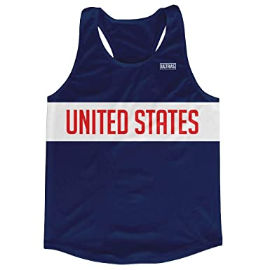 2ef70f279e6 United States Running Tank Top Racerback Track and Cross Country Singlet  Jersey, Navy, Adult