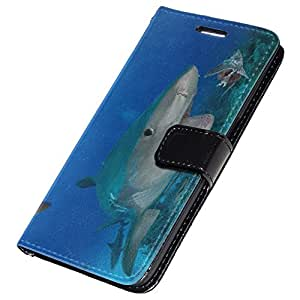 Colección 14, Custom Samsung Galaxy S7 Hard Back Case Cover Skin Cartera Flip Shell, piel sintética, Sea Life 10102, Colour Leather