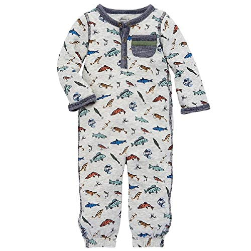 Set Convertible Gown (Mud Pie Fish Print Convertible Gown 0-3 Months)