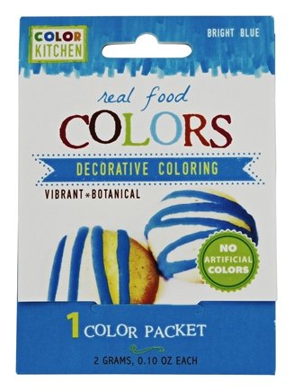 "ColorKitchen Food Color Packets 0.1 oz - 2 count ""Vibrant Color From Nature"" (Blue)"