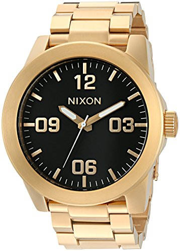 Nixon Women's 'Corporal' Quartz Stainless Steel Watch, Color:Gold-Toned (Model: A346-510-00) by NIXON