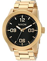 Nixon Corporal SS A346510-00.  Gold Stainless Steel Men's Watch (48mm Gold and Black Watch Face. 24mm All Gold...