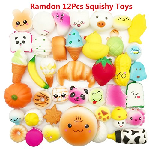 Yeng Random 12Pcs Squishies Kawaii Slow Rising Medium Mini S