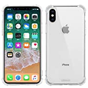 """Ulikeus iPhone Xs Case Clear, iPhone X Case Clear Durable Shockproof Drop Protection Soft 5.8"""" Phone Back Cover (2018)"""